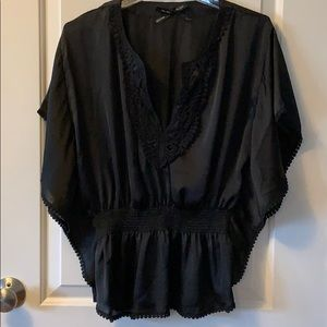 Silky laced detail top 5/30